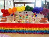 Rainbow themed Birthday Party Decorations Kara 39 S Party Ideas Rainbow themed 1st Birthday Party