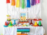 Rainbow themed Birthday Party Decorations Kara 39 S Party Ideas Rainbow themed Birthday Party Kara 39 S