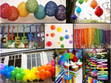 Rainbow themed Birthday Party Decorations Party Obsession Over the Rainbow Party eventful