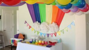 Rainbow themed Birthday Party Decorations Rainbow themed Birthday Party events to Celebrate