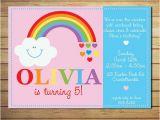 Rainbow themed Birthday Party Invitations 25 Best Ideas About Rainbow Invitations On Pinterest