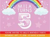 Rainbow themed Birthday Party Invitations 41 Best Rainbow Birthday Party Images On Pinterest