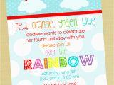 Rainbow themed Birthday Party Invitations 5 Perfect Rainbow Party Invitation Wording Braesd Com