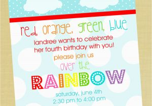Rainbow Party Invitations With Amazing Invitation For Beauty Your