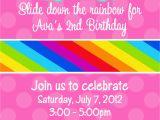 Rainbow themed Birthday Party Invitations Party Invitations Awesome Rainbow Party Invitations