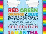 Rainbow themed Birthday Party Invitations Rainbow Birthday Invitation Cimvitation