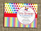 Rainbow themed Birthday Party Invitations Rainbow themed Birthday Invitations Best Party Ideas