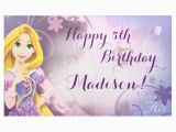 Rapunzel Happy Birthday Banner Disney Princess Rapunzel Birthday Banner Zazzle