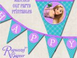 Rapunzel Happy Birthday Banner Rapunzel Tangled Birthday Party Banner by Missbellaexpressions