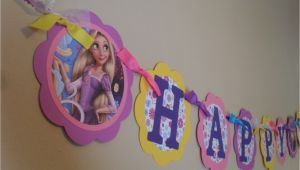 Rapunzel Happy Birthday Banner Rapunzel Tangled Happy Birthday Banner by Partyexpressions4u