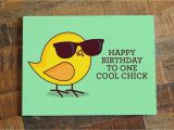 Really Cool Birthday Cards Funny Birthday Card for Her Happy Birthday to One Cool