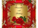 Red 50th Birthday Decorations Elegant 50th Birthday Party Gold Red Rose 5 25×5 25 Square