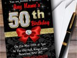 Red and Black 50th Birthday Decorations Red Black Gold Diamond 50th Birthday Party Personalised