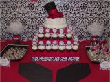 Red and Black 50th Birthday Decorations Red Black White Damask Birthday Quot Shabri 39 S 30th