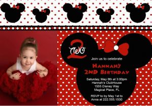 Red And Black Minnie Mouse Birthday Invitations Ideas Bagvania