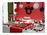 Red Black and White Birthday Decorations 90 Minnie Mouse Party Supplies Red and Black Minnie