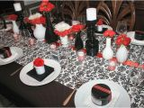 Red Black and White Birthday Decorations A Farewell Dinner Party Black White Red