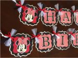 Red Minnie Mouse Birthday Party Decorations Black White