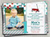 Red Wagon Birthday Invitations Little Red Wagon Birthday Invitation Red Wagon Birthday