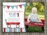 Red Wagon Birthday Invitations Printable Red Wagon Birthday Invitation Radio Flyer