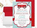 Red Wagon Birthday Invitations Red Wagon Birthday Invitations Birthday Invitations for Boys