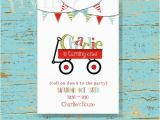 Red Wagon Birthday Invitations Red Wagon Party Printable Party Invitations I Design You