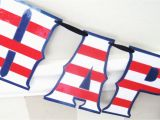 Red White and Blue Happy Birthday Banner Happy Birthday Banner Red White and Blue Flag Stripes