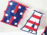 Red White and Blue Happy Birthday Banner Happy Birthday Banner Stars and Stripes Red White and