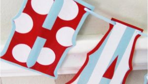 Red White and Blue Happy Birthday Banner Items Similar to Happy Birthday Banner Red White and