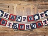 Red White and Blue Happy Birthday Banner Red White and Blue Happy Birthday Banner Star Red White and