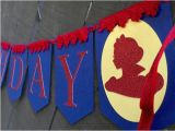 Red White and Blue Happy Birthday Banner Snow White Blue and Red Happy Birthday Banner