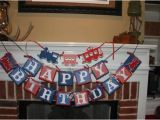 Red White and Blue Happy Birthday Banner Unavailable Listing On Etsy