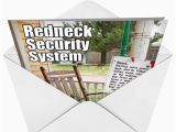 Redneck Birthday Cards Redneck Security System Funny Birthday Greeting Card