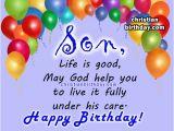 Religious Birthday Cards for son Spiritual Birthday Quotes for A son Christian Birthday