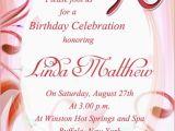 Religious Birthday Party Invitation Wording 90th Birthday Invitation Wording 365greetings Com
