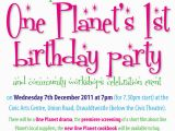 Reminder Birthday Invitation First Birthday Party Reminder Oneplanetcommunityprojects