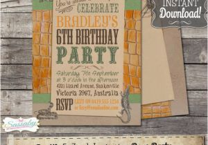 Reptile Birthday Invitations Printable Free Invitation Instant Download Editable By