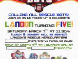 Rescue Bots Birthday Invitations Landon 39 S Rescue Bots 5th Birthday Project Nursery