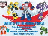 Rescue Bots Birthday Invitations Personalised Transformers Rescue Bots Invitations