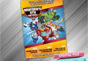 Rescue Bots Birthday Invitations Invitation