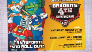 Rescue Bots Birthday Invitations Rescue Bots Birthday Party Invitation Rescue Bots Party