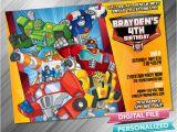 Rescue Bots Birthday Invitations Rescue Bots Invitation