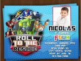 Rescue Bots Birthday Invitations Rescue Bots Invitation Rescue Bots Birthday Invitations
