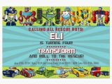 Rescue Bots Birthday Invitations Transformers Rescue Bots Birthday Invitation