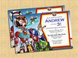 Rescue Bots Birthday Invitations Transformers Rescue Bots Invitation Printable Diy by