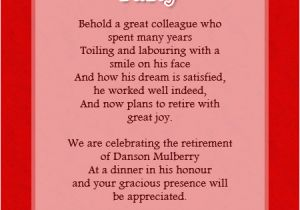Retirement And Birthday Party Invitation Wording