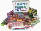 Retro Birthday Gifts for Him 1977 40th Birthday Gift Basket Box Retro Nostalgic Candy
