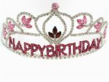 Rhinestone Birthday Girl Tiara Rhinestone Tiara Birthday Crown Pink by Fliesinthebuttermilk