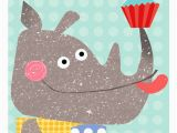 Rhino Birthday Card Happy Birthday Rhino Card by Kali Stileman Publishing