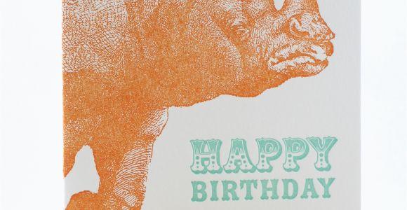 Rhino Birthday Card Rhino Birthday Card Sent Well